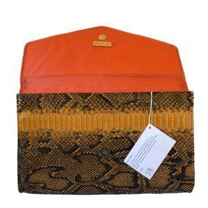 JOAN RIVERS Envelope Style CLUTCH Faux Snakeskin